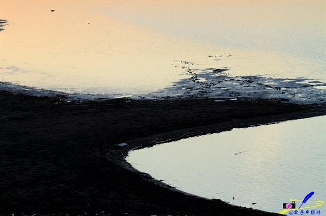 冬日的济南黄河美幻夕阳